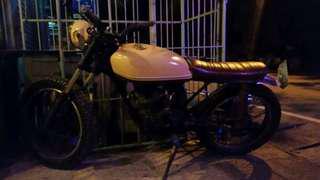 Vintage style scrambler motorcycle