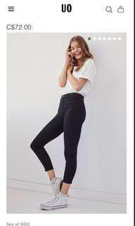 NEW Urban outfitters black mid rise skinny jeans