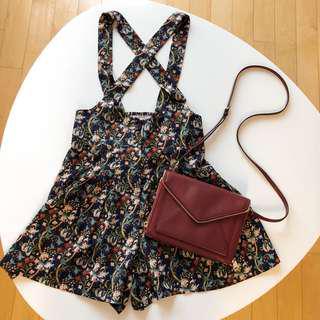 Rebecca Minkoff burgundy crossbody bag/clutch