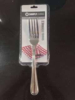 2 Stainless Steel Dinner forks
