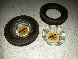 vintage Dunlop glass ashtray