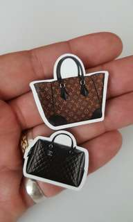 Louis vuitton and chanel bag magnetic tag