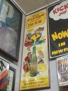 Kickapoo cardboard advertising