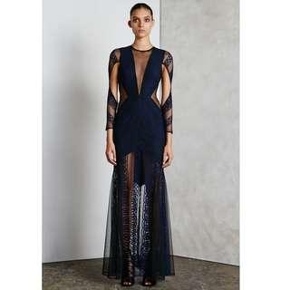 Shona Joy backless lace dress