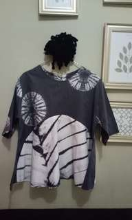 Blouse abu semi batik