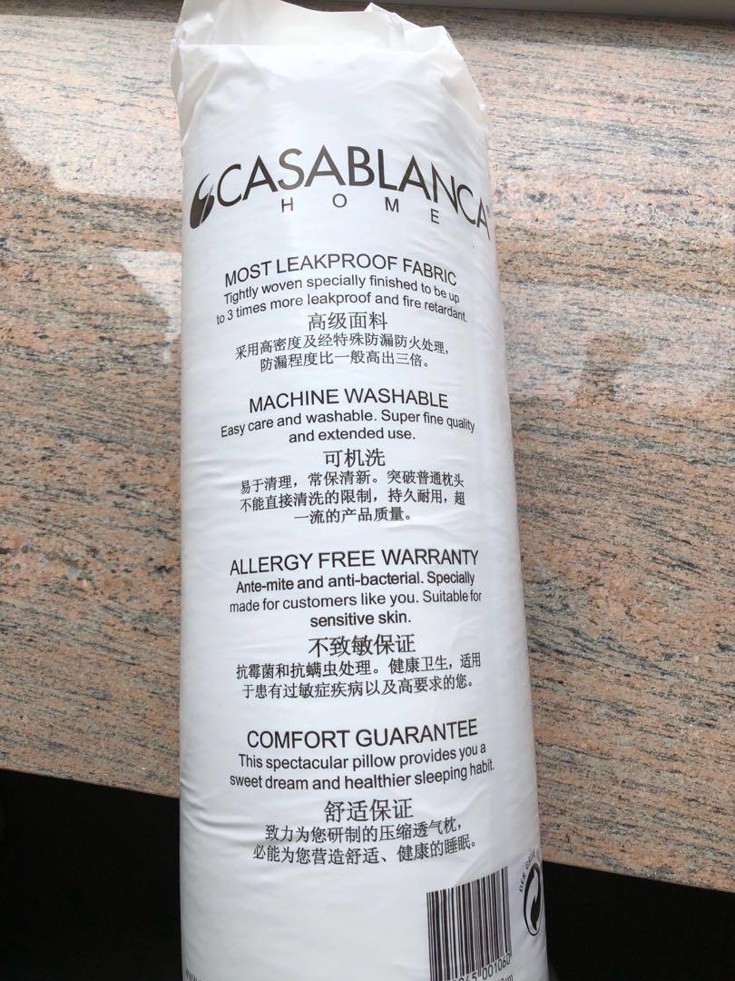 100% 全新 CASABLANCA 壓縮透氣枕