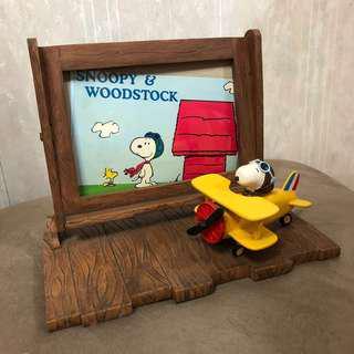 Snoopy 飛機師造型 相架 photo frame