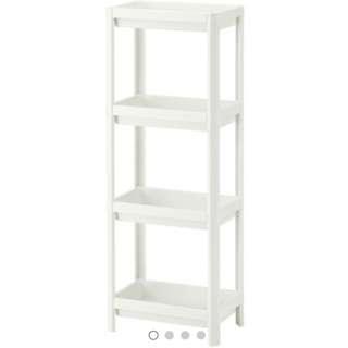 [Brand New with IKEA Seals] IKEA Vesken Plastic shelf in white