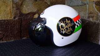 Helm retro vintage bogo vespa classic