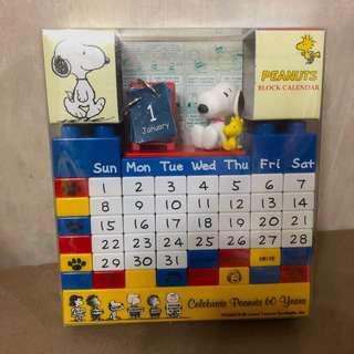 限定版 Snoopy 萬年暦 peanuts block calendar