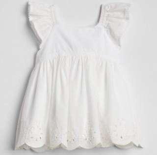 🚚 現貨 GAP 新款純白雕花洋裝上衣