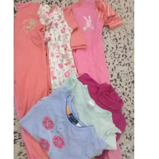 3PCS MOTHERCARE SLEEPSUIT (FREE 3 PCS TOP)