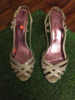 Silver sandals - size 39