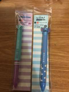 韓國🇰🇷直送,Disney 迪士尼原子筆,Stitch/史迪仔筆/怪獸公司毛毛筆