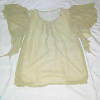 blouse hijau muda