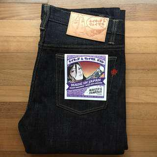 Naked and Famous Jeans MIJ4 (size 34)