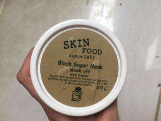 Skin food black sugar mask wash off