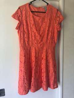 Charlotte Russe peach dress