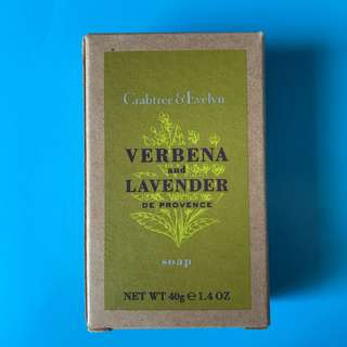 Crabtree and Evelyn verbena and lavender soap