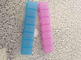 Portable 7days Pill holder/container/dispenser
