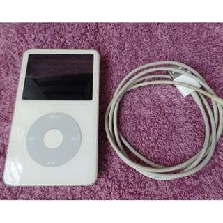 Used but good working condition Rockboxed Ipod Video 5.5 gen 80GB White, model A1136