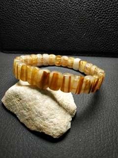 金髮晶水晶手排 閃閃金光 招財 特價出售