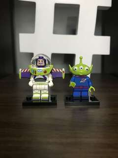 Lego Minifigure - Disney Series - Buzz Lightyear & Alien Set