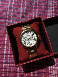 Geneva White/Gold Watch
