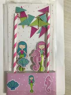 Party Cake Toppers - Mermaid