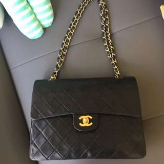Chanel Vintage Double Flap Matelasse Square Chain Bag
