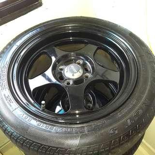 "Spoon 15""Rim w/ tyres"