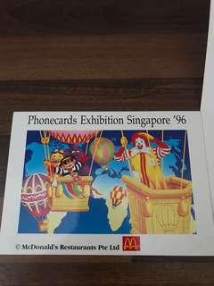 Singapore MacDonald Phonecard