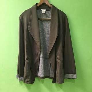 Moss green soft blazer