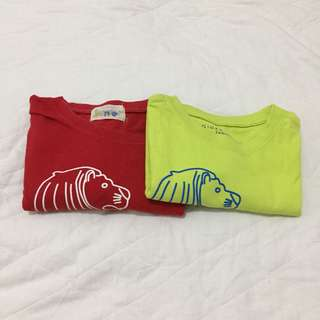 Giordano Merlion Tee Set for Mommy and Baby