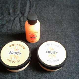 Fruity Body Scrub, Body Butter and Shower Gel Set.