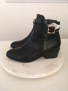 Black Perry Ankle Boots NEW