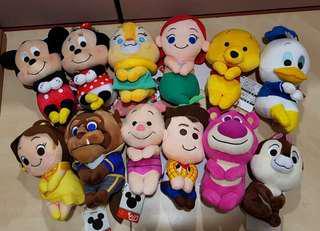 Disney Characters Chokkorisan Plush caught from Claw Machine
