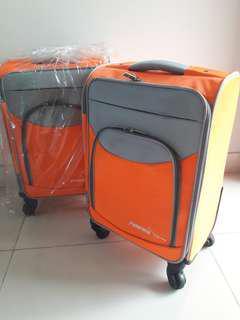 NEW Koper Cabin 18 inchi Roda Empat Tas Trolley Orange