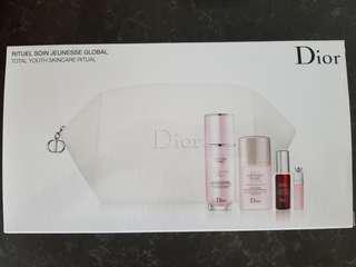 Dior Total Youth Skincare Ritual + Makeup bag (New)