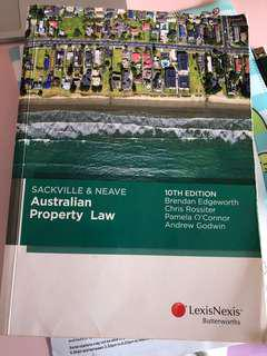 Sackvill and Neave Australian Property Law 10th Edition Textbook