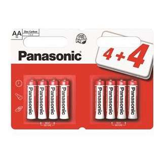 ⚡️BN INSTOCKS Panasonic Zinc Carbon AA Batteries (4+4)