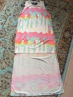 Tie Dye Fishtail Dress