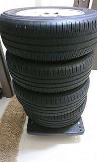 Michelin tyres with ENKEI3 sports rims