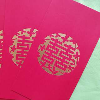 Double happiness Red packet / ang pao packet