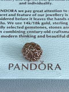 Pandora Openwork Hearts Rose Charm