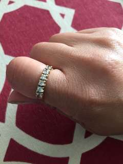 10k gold eternity band with high quality zirconia $135 FIRMED