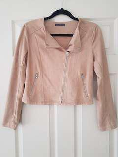 Tan Suede Jacket Size 8