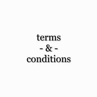terms and conditions (t&c)