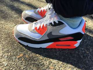 Air max 90 white Infrareds OG (authentic)