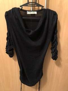 Zara Black 3/4 top